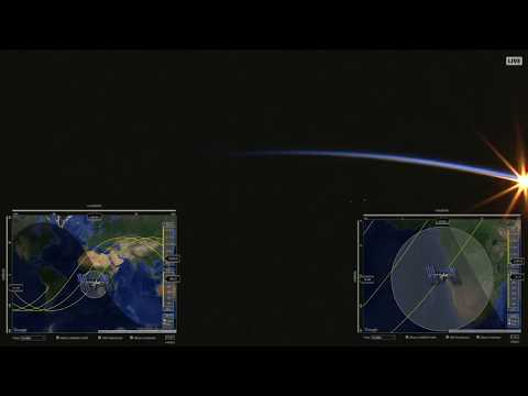 Filmed Into Epic Sunrise On Live ISS HD View (HDEV Payload)