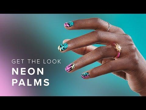 Pro Tropical Summer Leaves Nail Art Tutorial thumbnail