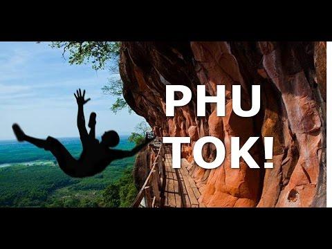 Terrifying Phu Tok Temple, Esan, Thailand - 359m High Rock in the Jungle