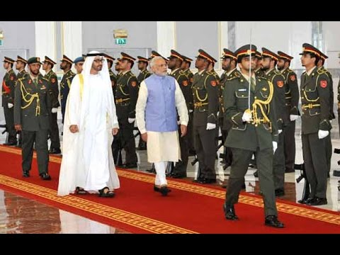 LIVE Narendra Modi Arrived In Abu Dhabi To A Ceremonial Welcome !!!