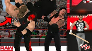 WWE 2K19 - WWE RAW TOP10 SHOCKING MOMENTS WWE WWE 2K19/WWE SVR11 PSP/ANDROID