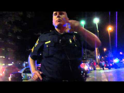 Omaha police department brutality / harassment for not getting off the public sidewalk