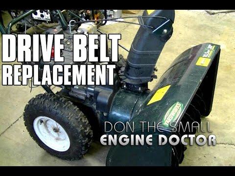 yard machine snowblower belt replacement