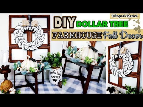 Dollar Tree DIY   Farmhouse Fall Decor Decor Ideas   DIY Wall Decor