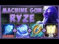 HOW IS THIS CHAMP NOT NERFED?? MACHINE GUN RYZE IS 100% UNFAIR! RYZE TOP GAMEPLAY! League of Legends