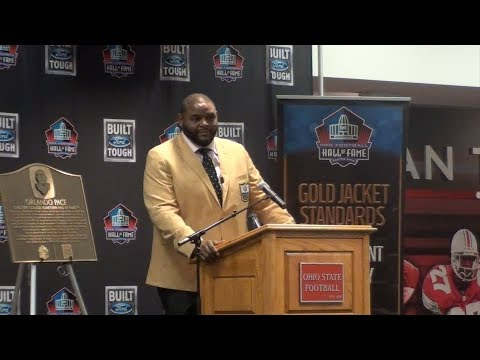"Orlando Pace Presented ""Hometown Hall of Famer"" Plaque"
