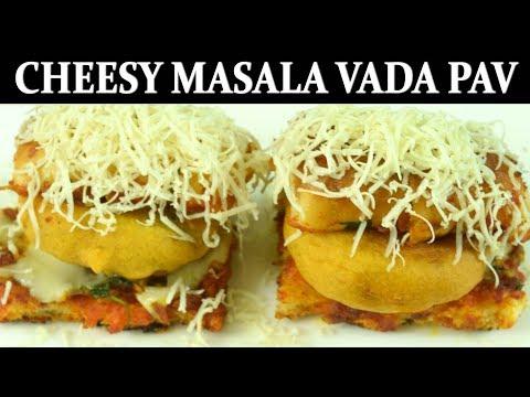 Cheesy Masala Vada Pav| Best Vada Pav recipe with masala pav| Hot & Spicy Indian Street Food