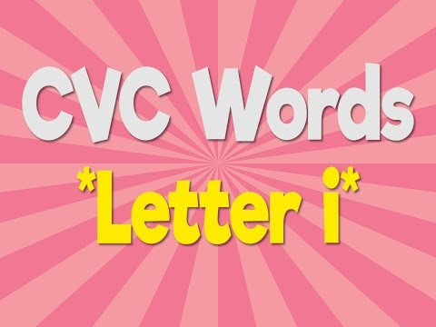 CVC Words | Letter i | Consonant Vowel Consonant | Phonics Song | Jack Hartmann
