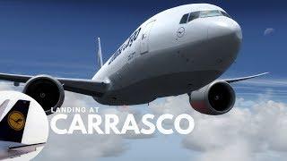 [P3DV4] ✈ LH8066 | Landing at Carrasco ( SUMU | MVD ) | B77L | IVAO | Fly with me #14