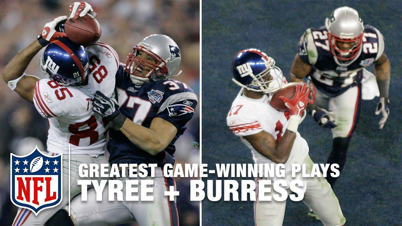 e3fa7c68 Tyree Helmet Catch + Plaxico Burress' game-winning TD Super Bowl XLII | NFL