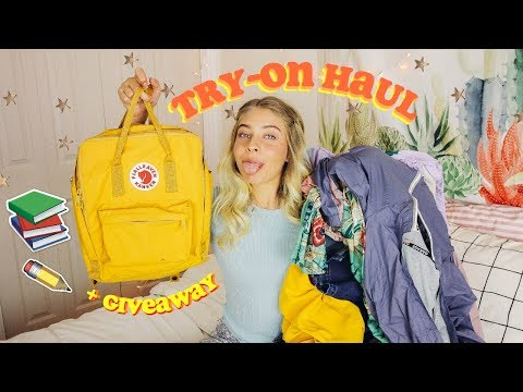 Back To School Try-On Clothing Haul 2017-2018 + Fjallraven Kanken GIVEAWAY!!