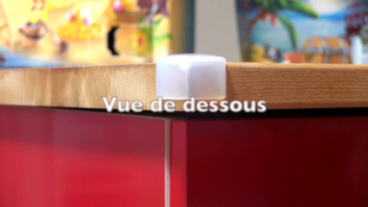 prot ge coin de table et de meuble ajustable en hauteur. Black Bedroom Furniture Sets. Home Design Ideas