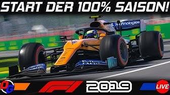 F1 2019 | 100% Saison #1 – Saisonstart in Melbourne! | Formel 1 Livestream German Deutsch