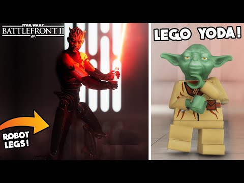Star Wars Battlefront 2 - Robot Legs Darth Maul, LEGO Yoda, Battle Droids & C-3PO Are AMAZING Mods!