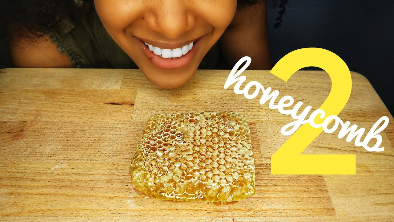 Asmr Raw Honeycomb Part 2 Sticky Eating Sounds No Talking