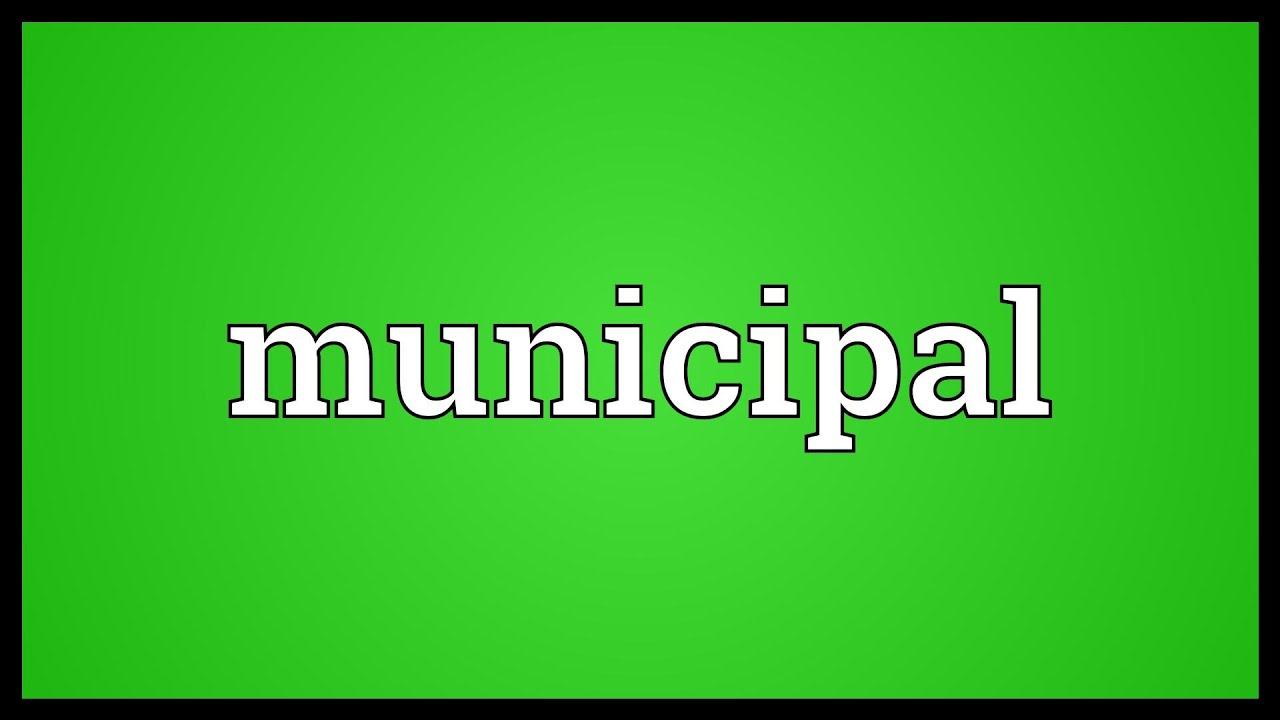 What is a municipality 36