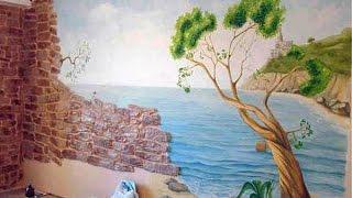 видео Декоративная роспись стен и потолков