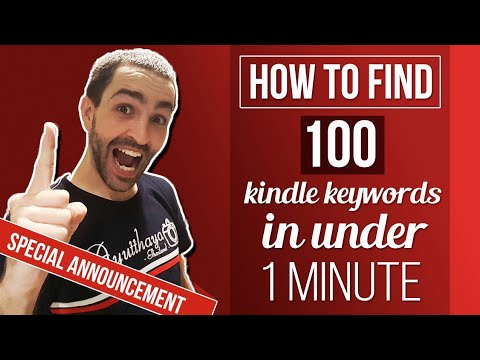 How To Find 100 Kindle Keywords In Under 1 Minute