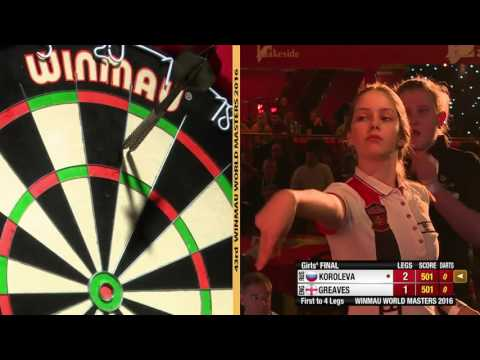 2016 Winmau World Masters Girls' Final Koroleva vs Greaves
