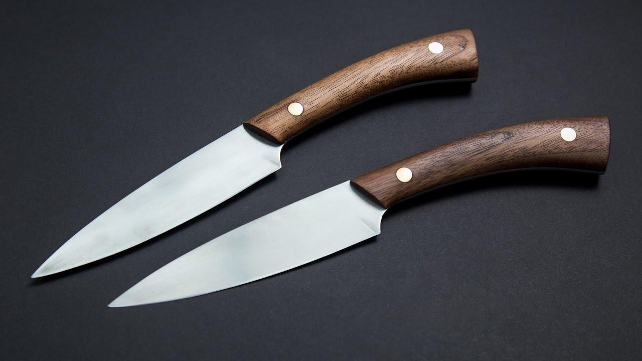 knife making making steak knives using basic cheap tools youtube