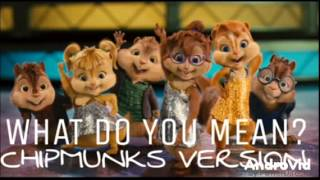 WHAT DO YOU MEAN? CHIPMUNKS VERSION