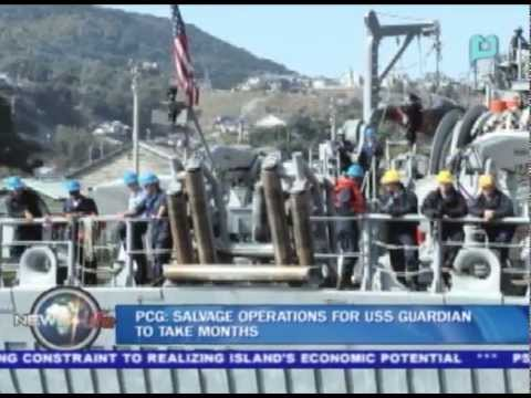PCG: Salvage operations for USS Guardian to take months