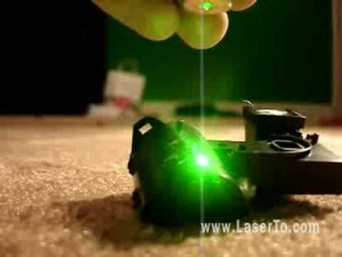 huge selection of fa6c7 0caa2 Wonderful demo of burn rubber via a green laser pointer