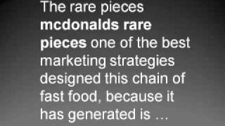 Mcdonalds Rare Pieces – Advertising and Marketing Ideas