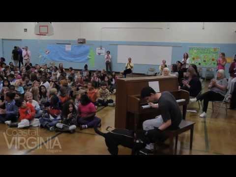 Justin Kauflin at Rosemont Forest Elementary School in Virginia Beach
