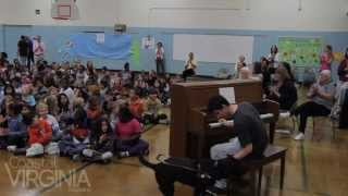 Justin Kauflin at Rosemont Forest Elementary School in Virginia Beach