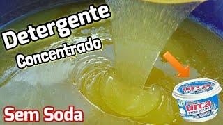 DETERGENTE gel CONCENTRADO sem soda com PASTA DE BRILHO