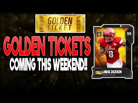MUT 18 GOLDEN TICKETS ARE COMING THIS WEEKEND? GT LAMAR JACKSON!? | MADDEN 18 ULTIMATE TEAM