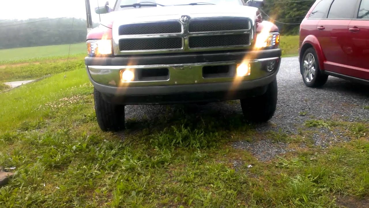 Led Headlights For Trucks >> 97 dodge 1500 spyder headlights - YouTube