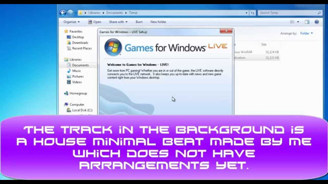 How To Install Games For Windows Live Full Offline Win7