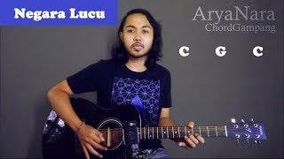 Chord Gampang (Negara Lucu - eńau) by Arya Nara (Tutorial Gitar) Untuk Pemula