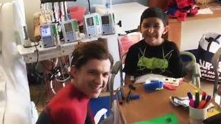 Zendaya & Tom Holland Bring Spider-Man Surprise To NYC Children's Hospital