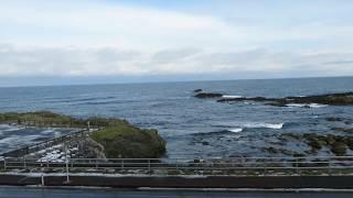 2017年12月10日 五能線 列車内からの千畳敷海岸 thumbnail