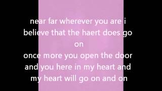 celine dion - my heart will go on instrumental with lyrics