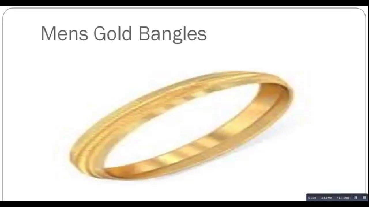 Mens Gold Bangles - YouTube