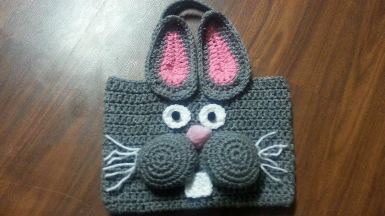 Amigurumi Rabbit Tutorial : Crochet how to crochet bag crochet bunny bag tutorial