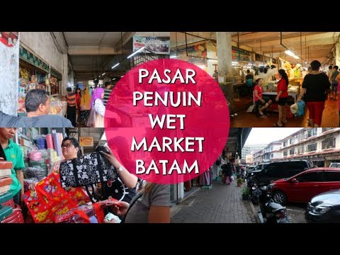 Visit To Pasar Penuin Wet Market   Travel Vlog Batam, Indonesia