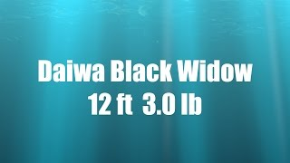 Обзор удилища Daiwa Black Widow 12ft 3.0lb