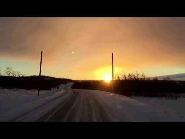 Nordkapp Vintertur 2015 - Video 25 - Kautokeino til Jokkmokk