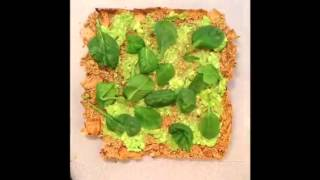 Pizza Verde On Eggplant Crust Gluten Free   Raw Vegan