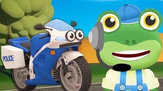 Gecko and The Police Motorbike | Gecko's Garage | Construction For Kids | Cartoons For Kids