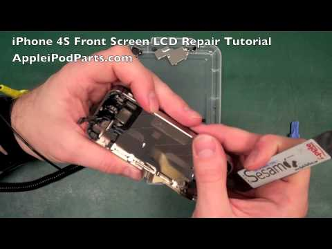 iphone 4s screen repair iphone 4s front screen amp lcd how to replacement repair 2162