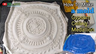 How To Make A Gypsum Ceiling Medallion Mold