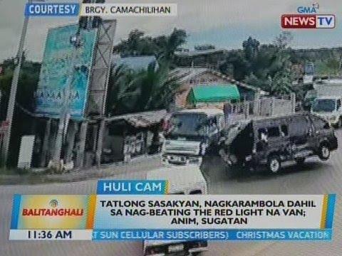 BT: 3 sasakyan, nagkarambola dahil sa nag-beating the red light na van; 6, sugatan