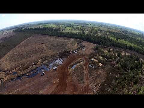 2014 turf cutting, Flight over mountmellick bog county Laois