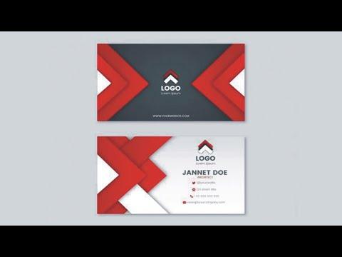 how to make business card design I Learn CorelDRAW I CorelDRAW Tutorial I with Trend CorelDRAW thumbnail